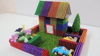 DIY - How To Make a Beautiful House with Over Ten Thousand of Magnetic balls | Mixer Construction