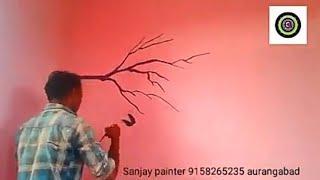 tree bird wall painting 2018????️????