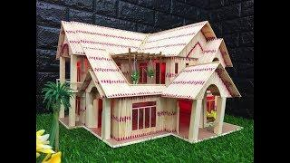 How to Make a Matchstick House Fire at Home | Amazing Matchstick House