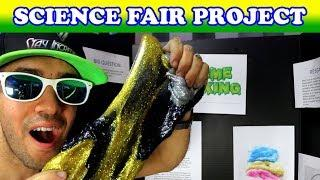 Satisfying Diamond Slime Science Fair Project and Display Board!