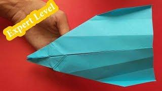 How to Make a World Class Paper airplane that Flies Far 999 Feet's | origami Paper Plane Flying 999