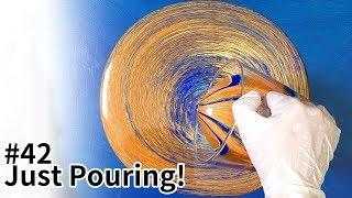 How to acrylic pouring basic - tree ring pour Fluid art / Abstract painting