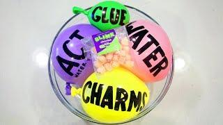 Making Ultra Clear Slime with Balloons & Satisfying Charm Mixing!