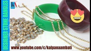 How to make Latest Designer Silk Thread Bangles set // Partywear bangles making