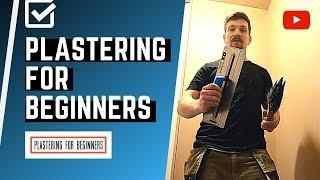 Learn How To Plaster A Wall For Beginners (START TO FINISH)