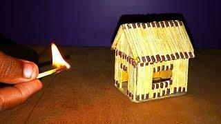 How to Make Matchstick House & Fire at Home || Superb Matchstick Home