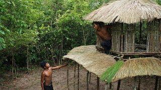 Primitive Technology: Build Two Floors Hobbit house - Part 1