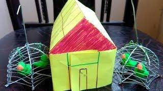 House/How to make a house/ How to make house from paper/House from  chart paper