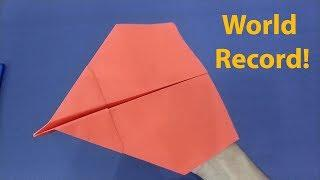 How to Make the WORLD RECORD PAPER AIRPLANE That flies Far 110+ Feet | Paper Plane Flying Review