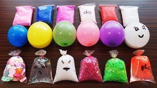Making Slime With Bags And Balloons & Clay