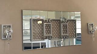 Dollar Tree Diy |  Glam Wall Mirror And Sconces