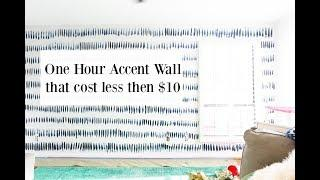 ONE HOUR Accent wall that cost less that $10