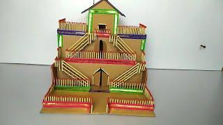DIY - CARDBOARD MINI HOUSE MAKING || BEAUTIFUL HOUSE FROM CARDBOARD \ HOW TO MAKE MINI HOUSE DIY