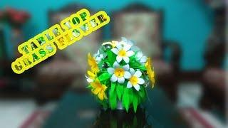 How to Make Paper Flowers | Table Top Paper Flower #linascraftclub