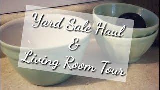 Yard Sale Haul & Living Room Tour