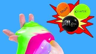 How To Make Satisfying Mini Slime From Balloons- DIY Hamster