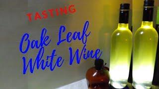 oak leaf white wine  tasting