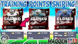 ✅HOW TO GET THE MOST TRAINING POINTS SNIPING AUCTION HOUSE | Madden 19 Ultimate Team