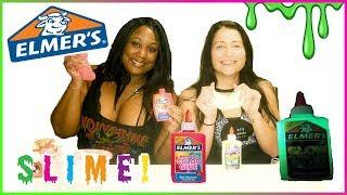 MAKING  SLIME WITH ELMER'S GLOW GLUE & COLOR| HOW TO MAKE SLIME OUT OF ELMER'S GLUE