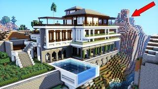 WANT THIS TUTORIAL? Minecraft: How To Build a MODERN Mansion / Modern Cliff/Mountain house! 2018