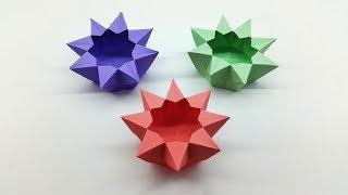 How to make a Paper Box for Kids - Origami Star Box tutorial