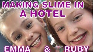 MAKING SLIME IN A HOTEL WITH RUBYROSEUK | LONDON VLOG (FILMING AT SKY)
