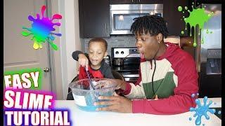HOW TO MAKE SLIME WITH 3 YEAR OLD!!! **FIRST TIME**
