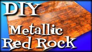 DIY Metallic Red Rock with Epoxy