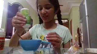 How to make slime with contact lens solution.   Ashmita khosla
