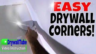 Easy Way to Tape an Inside Drywall Corner After Repairs and Skim Coat