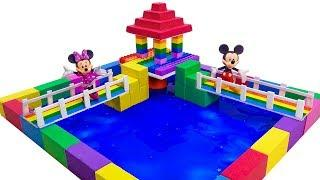 How To Make Pen House Mickey Mouse with Kinetic Sand, Mad Mattr Surprise Toys  For Kids
