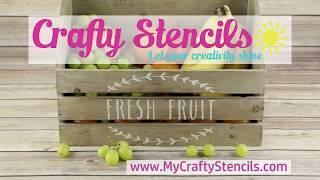 DIY Kitchen Stencil Customization