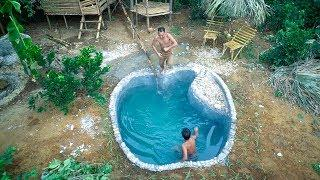 Build Swimming Pool Around Underground House-Part 4