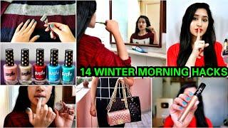 14 Winter Morning hacks for LAZY PEOPLE | Skincare, makeup hacks, Life hacks |