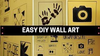 DIY Wall Art | Easy Wall Decor Ideas | Wall Painting | Diarytale.