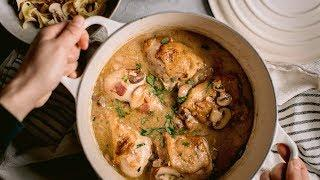 Simple Coq Au Vin Recipe - French Chicken Stew with White Wine