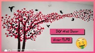DIY wall Panting| BUDGET Room Decor| Anushka rathore