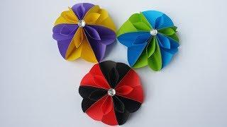 DIY: Paper Flower!!! How to Make Easy & Simple Flower With Colour Paper!!!
