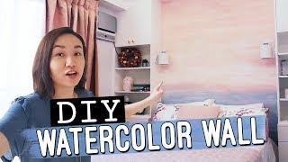 DIY Watercolor Wall // Beach Inspired // by Elle Uy
