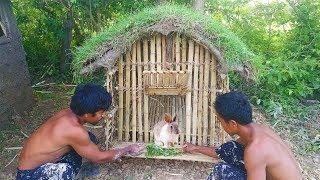 Build Rabbit House using bamboo and mud