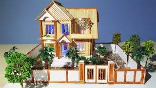 Building Popsicle Stick Mansion House - Popsicle Garden Villa - Architecture - Mode 04