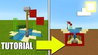 Minecraft Tutorial: How To Make A Hidden Secret Underwater house In 5 Minutes! 2019 Tutorial