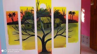 Beautiful 3D wallpaper painting tutorial step by step
