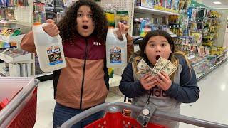 $500 Slime Supplies Shopping Challenge at Target - Valentine's Day shopping huge Slime Supply haul