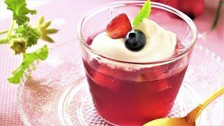 簡単低糖質赤ワインゼリー&カクテルレシピ・美しくジューシーに作るダイエットスイーツ How to make low-carb red wine jelly. keto diet recipe