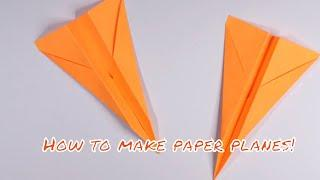 How to make paper plane quick | Tutorial | Origami | Paper Art | Easy Plane | High Quality