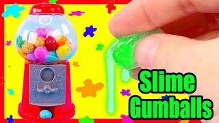 Slime Gumball Machine DIY and How To Make 18 Different Slime Mixes