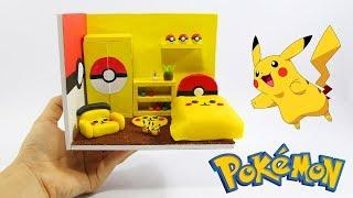 DIY Making Miniatures Pikachu Room Doll House- DIY Hamster