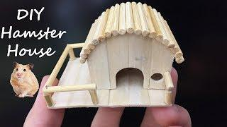 How To Make Mini Hamster House, Popsicle Stick Crafts, DIY House