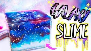 DIY Galaxy Cube Slime! How To Make Clear Galaxy Slime In A Box!